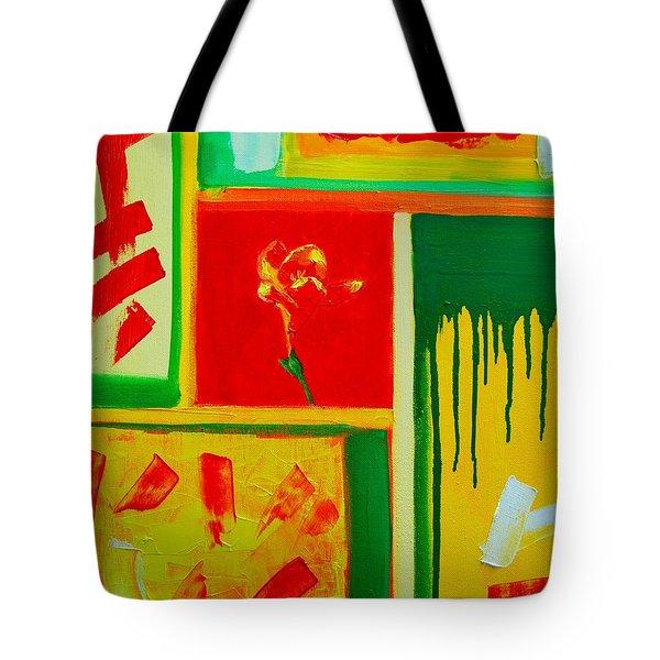 The Little Flower Tote Bag by Ana Maria Edulescu