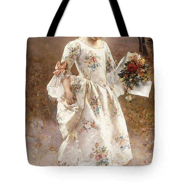 The Little Flower Girl  Tote Bag by Albert Raudnitz