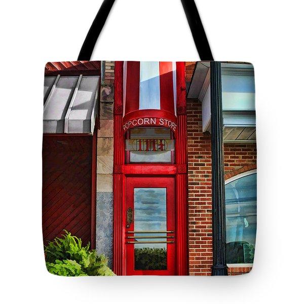 The Little Popcorn Shop In Wheaton Tote Bag
