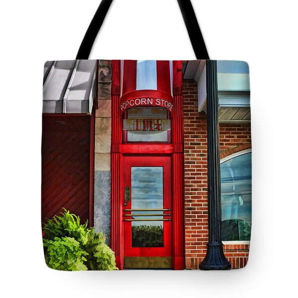 The Little Popcorn Shop In Wheaton Tote Bag by Christopher Arndt