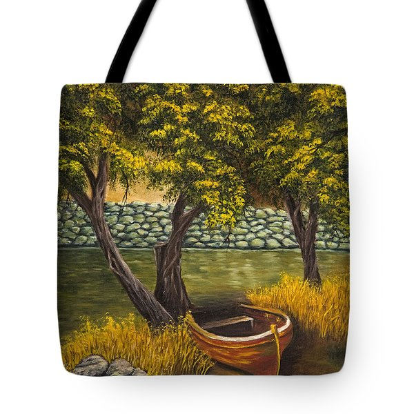 The Little Red Boat Tote Bag
