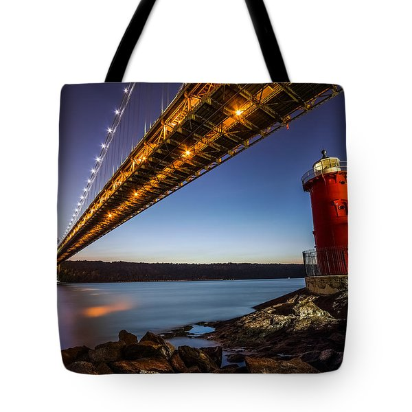 Tote Bag featuring the photograph The Little Red Lighthouse by Mihai Andritoiu