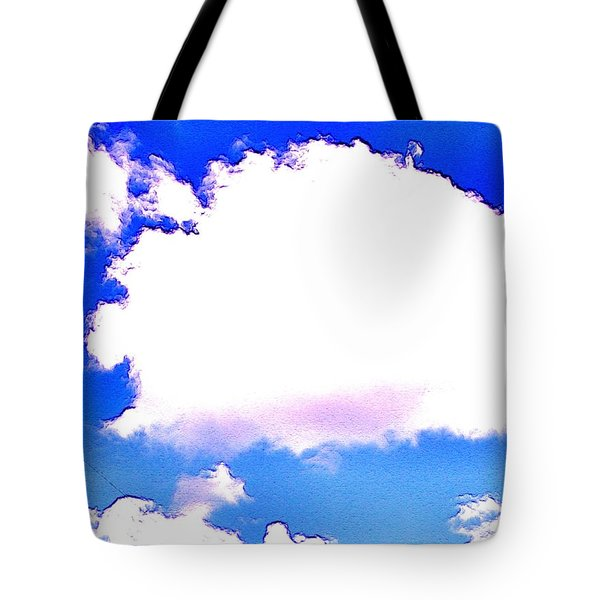 Tote Bag featuring the photograph The Little White Cloud That Cried by Sadie Reneau