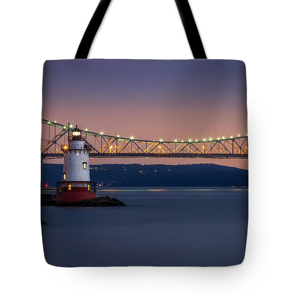 The Little White Lighthouse Tote Bag by Mihai Andritoiu
