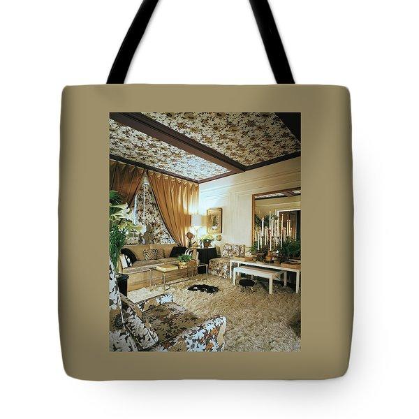 The Living Room Of Leoda De Mar's Home Tote Bag