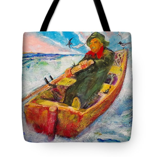 The Lone Boatman Tote Bag by Seth Weaver
