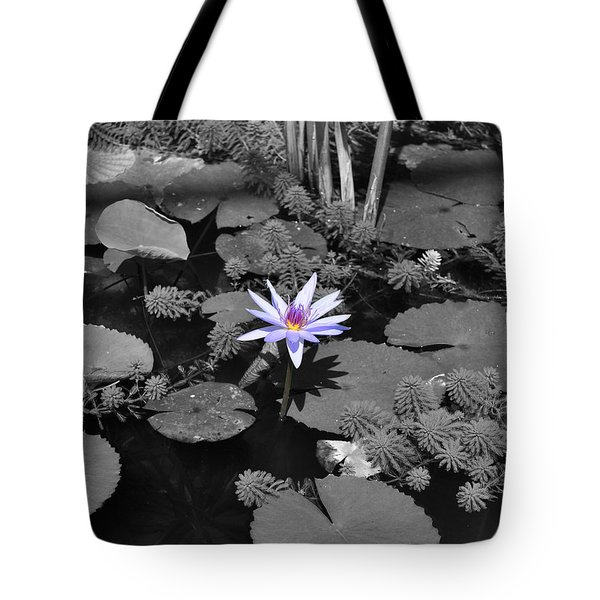 The Lone Flower Tote Bag