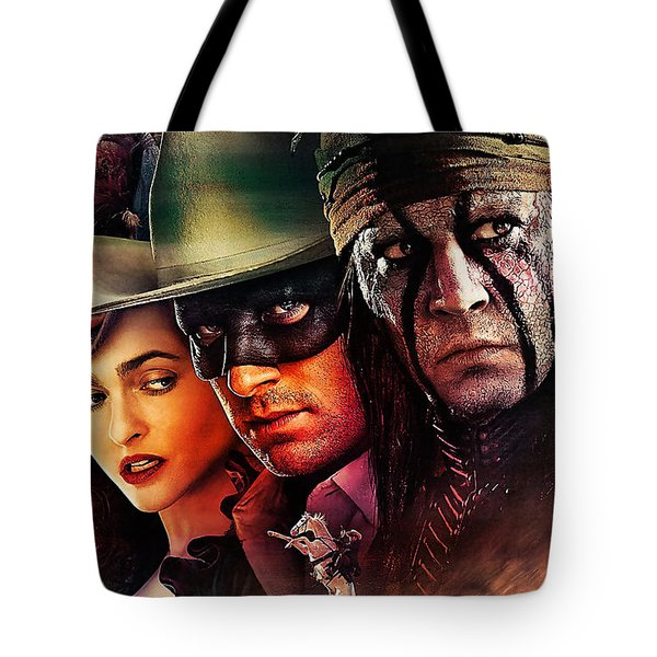 The Lone Ranger Painting Tote Bag by Marvin Blaine
