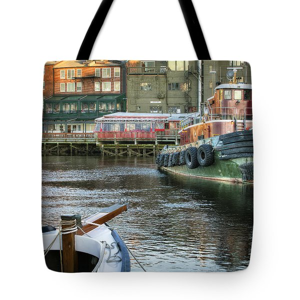 The Lone Tug Tote Bag by Eric Gendron