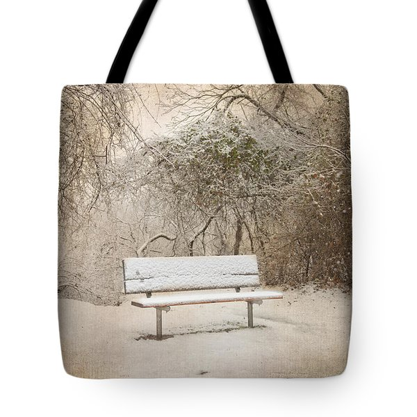 The Lonely Bench Tote Bag by Betty LaRue