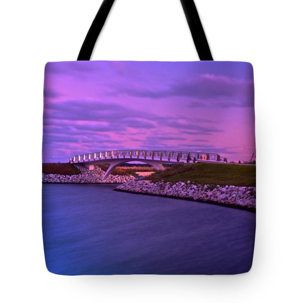 The Lonely Bridge Tote Bag by Jonah  Anderson