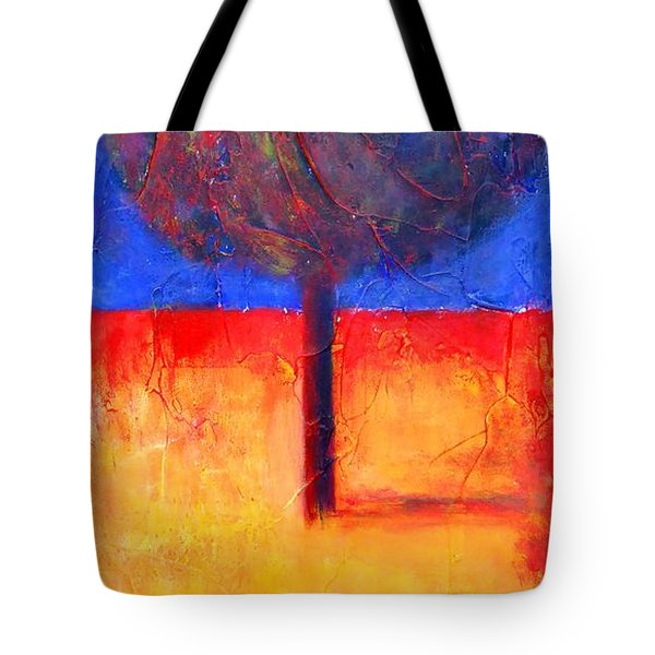 The Lonely Tree In Autumn Tote Bag