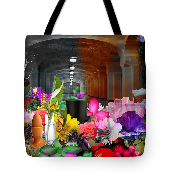 Tote Bag featuring the digital art The Long Collage by Cathy Anderson