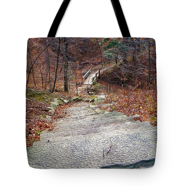 The Long Lonely Trail... Tote Bag by Tim Fillingim