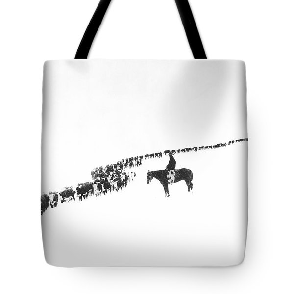 The Long Long Line Tote Bag by Underwood Archives  Charles Belden