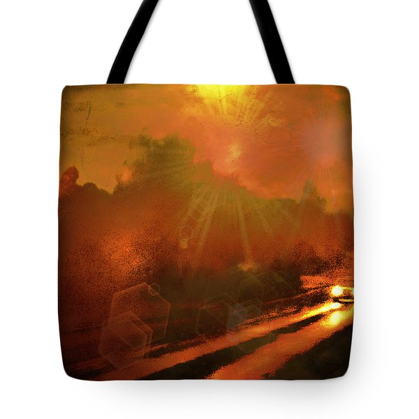 Tote Bag featuring the photograph The Long Road Home  by Fine Art By Andrew David