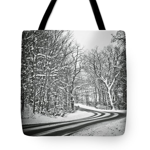 The Long Road Of Winter Tote Bag