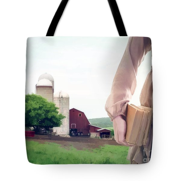 The Long Walk To School Tote Bag by Edward Fielding