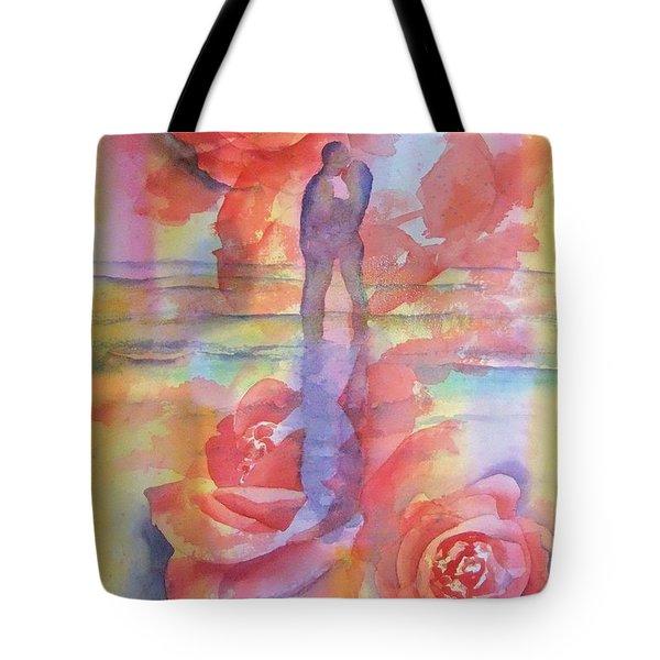 Tote Bag featuring the painting Eternal Love by Debbie Lewis