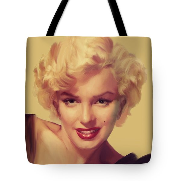 The Look In Gold Tote Bag by Chris Consani