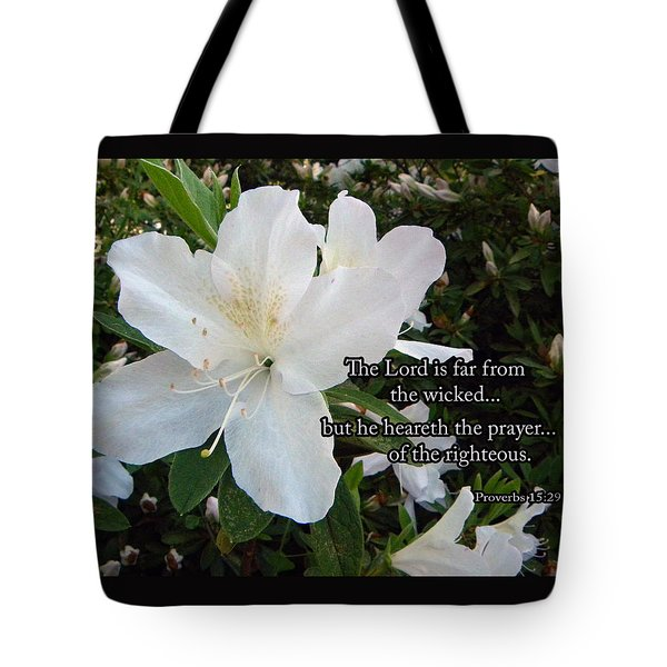The Lord Hears Tote Bag by Larry Bishop