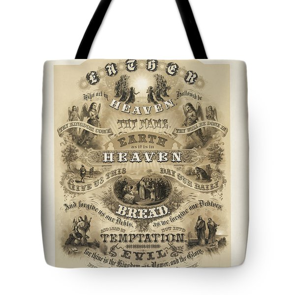 The Lords Prayer Tote Bag by Bill Cannon