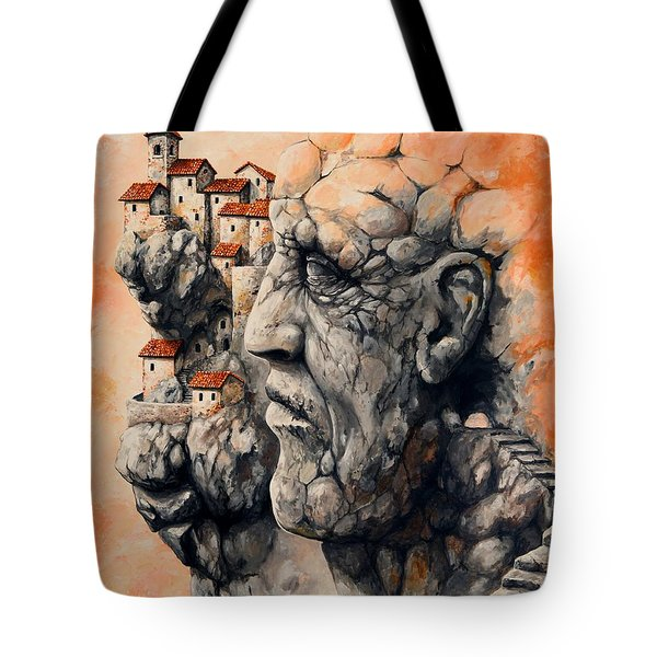 The Lost City - The Sentinel Tote Bag by Emerico Imre Toth