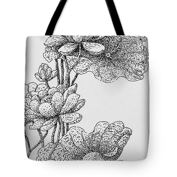 The Lotus Flower Tote Bag