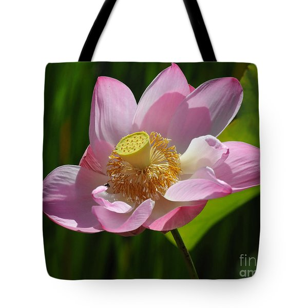 Tote Bag featuring the photograph The Lotus by Vivian Christopher