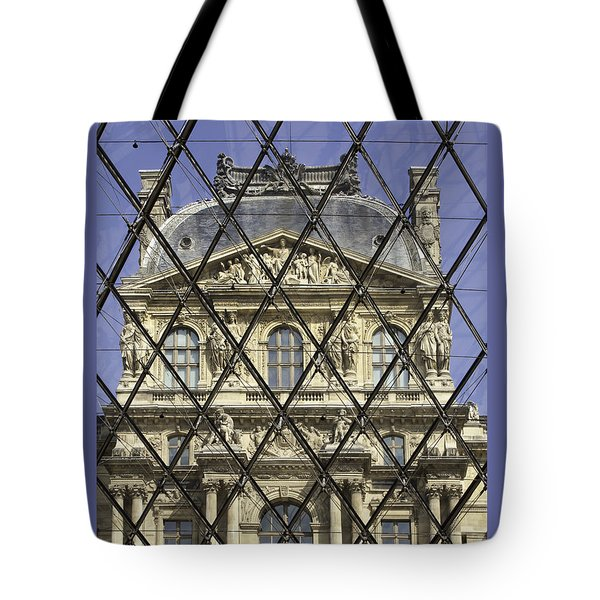 The Louvre From The Pyramid Tote Bag