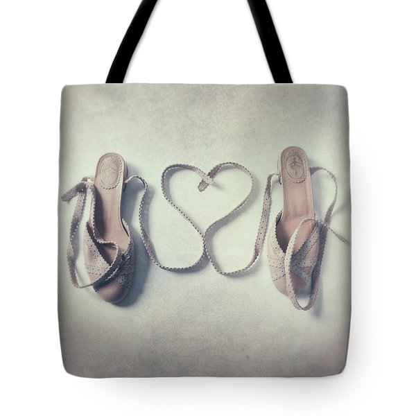 The Love Of A Ballerina Tote Bag by Joana Kruse