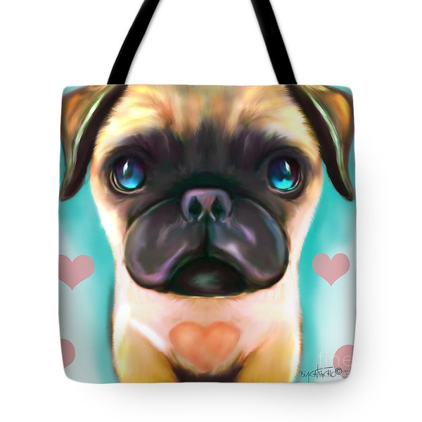 The Love Pug Tote Bag