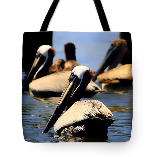 The Lovely Pelican  Tote Bag by Debra Forand