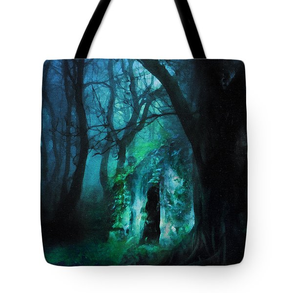 The Lovers Cottage By Night Tote Bag