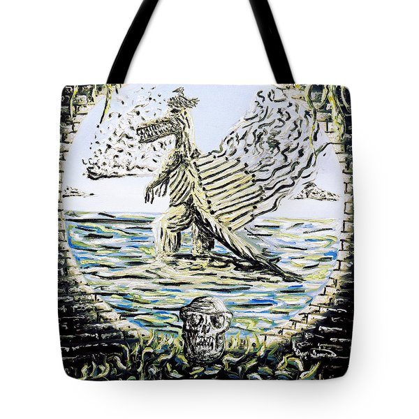 Tote Bag featuring the painting The Machine by Ryan Demaree
