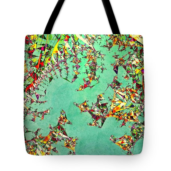 Tote Bag featuring the digital art The Mad Hatter's Fractal by Susan Maxwell Schmidt