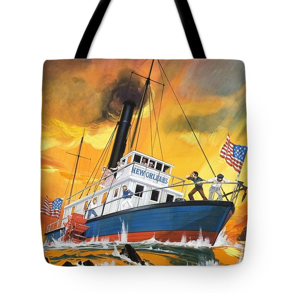 The 'madmen' Of The Mississippi Tote Bag