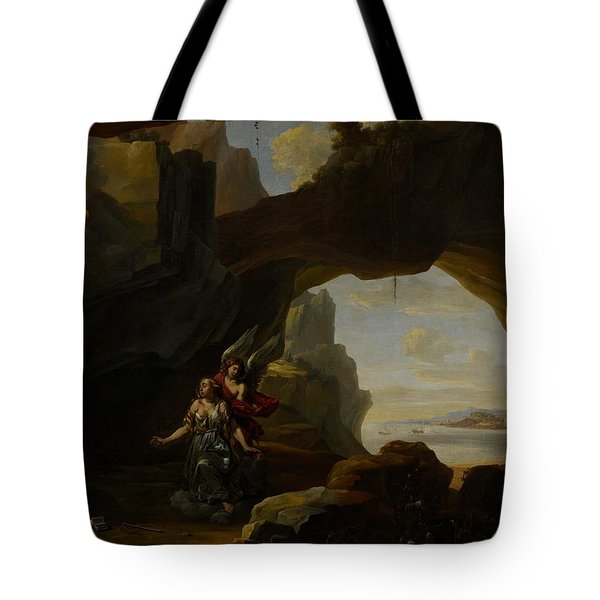 The Magdalen In A Cave Tote Bag by Johannes Lingelbach