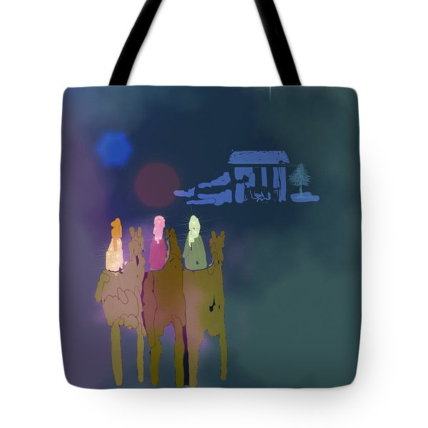 Tote Bag featuring the digital art The Magi by Arline Wagner