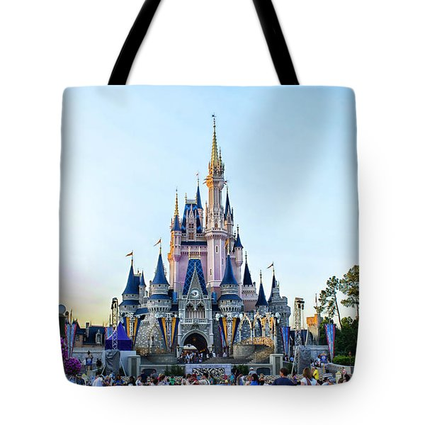 The Magic Kingdom Castle On A Beautiful Summer Day Horizontal Tote Bag by Thomas Woolworth