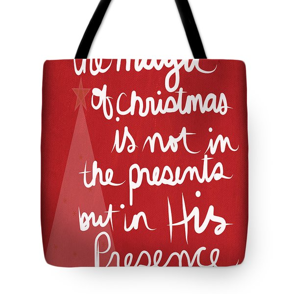 The Magic Of Christmas- Greeting Card Tote Bag