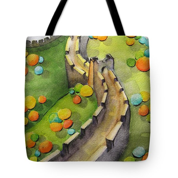 The Magical Great Wall Tote Bag by Oiyee At Oystudio