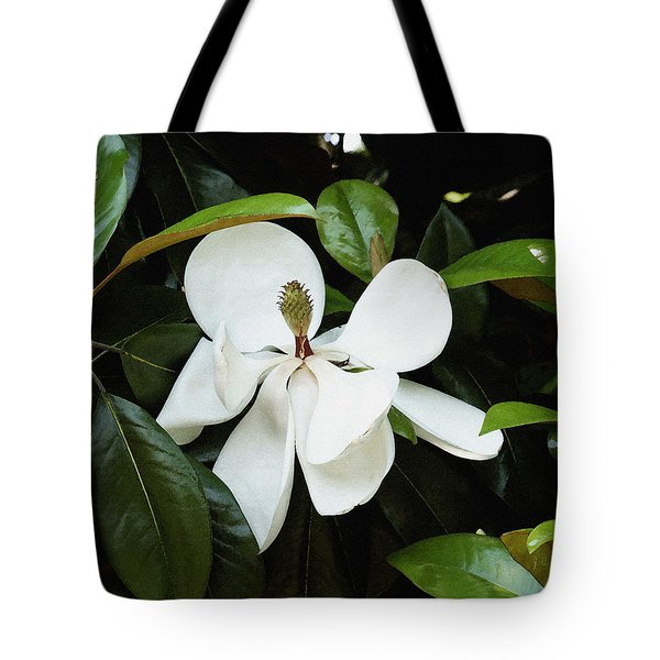 Tote Bag featuring the photograph The Magnolia Bloom  by James C Thomas