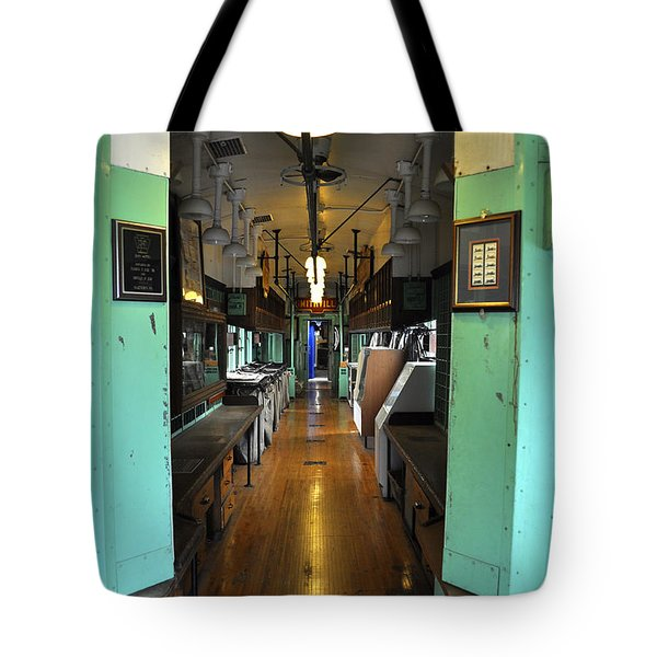 Tote Bag featuring the photograph The Mail Car From The Series View Of An Old Railroad by Verana Stark