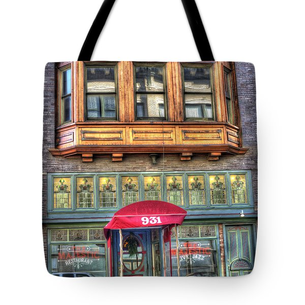 The Majestic Restaurant Tote Bag by Liane Wright