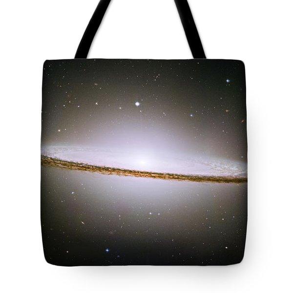 The Majestic Sombrero Galaxy Tote Bag