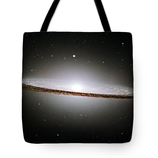 The Majestic Sombrero Galaxy Tote Bag