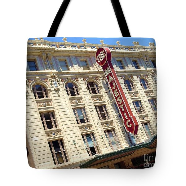Tote Bag featuring the photograph The Majestic Theater Dallas #1 by Robert ONeil