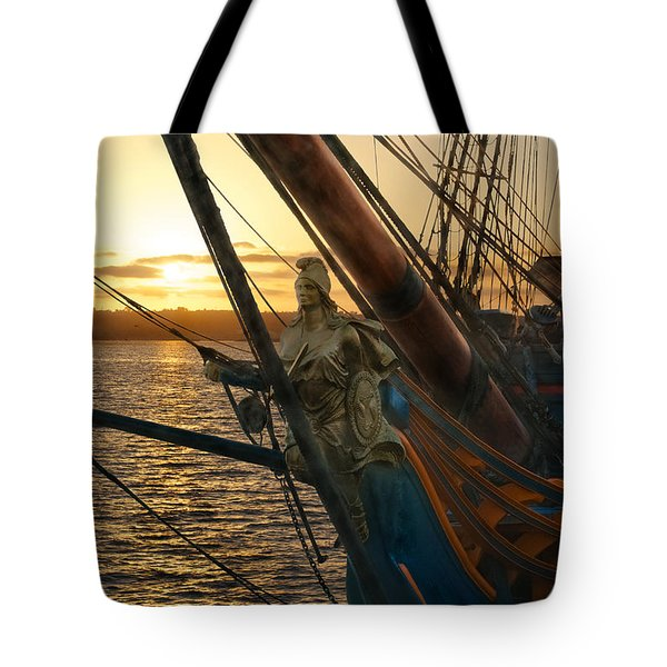 The Majesty Of The Ocean Tote Bag by Claudia Ellis