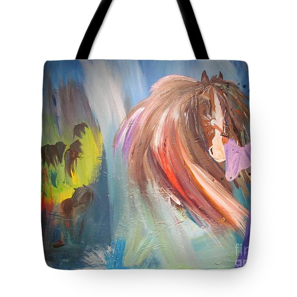 The Majik Of Horses Tote Bag